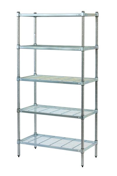 POST STYLE COLDROOM SHELVING WITH WIRE GRID